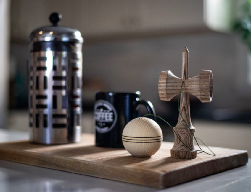 kendama modeled after french press