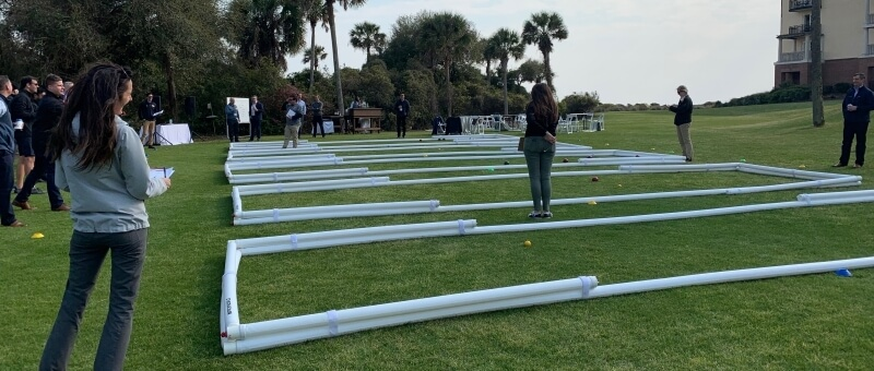 Bocce ball courts at a luxury golf resort
