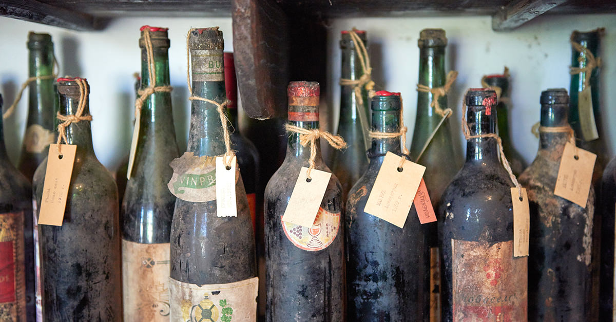 old bottles of alcohol