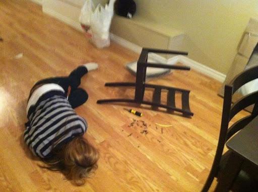 assembling ikea furniture is hard