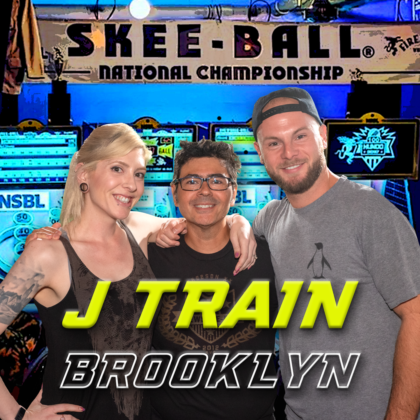competitive skee-ball team at the championship