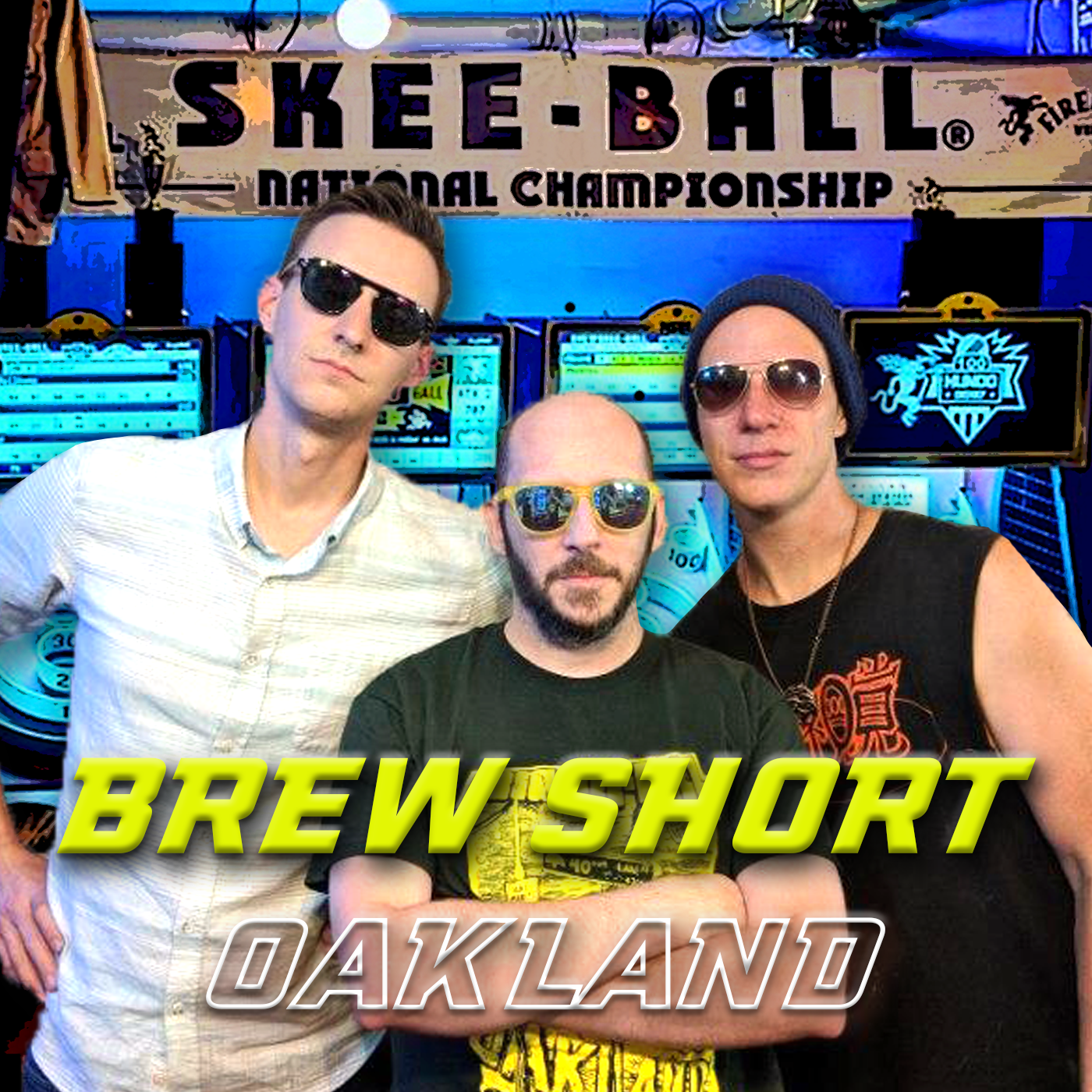 team of professional skee-ball players in sunglasses