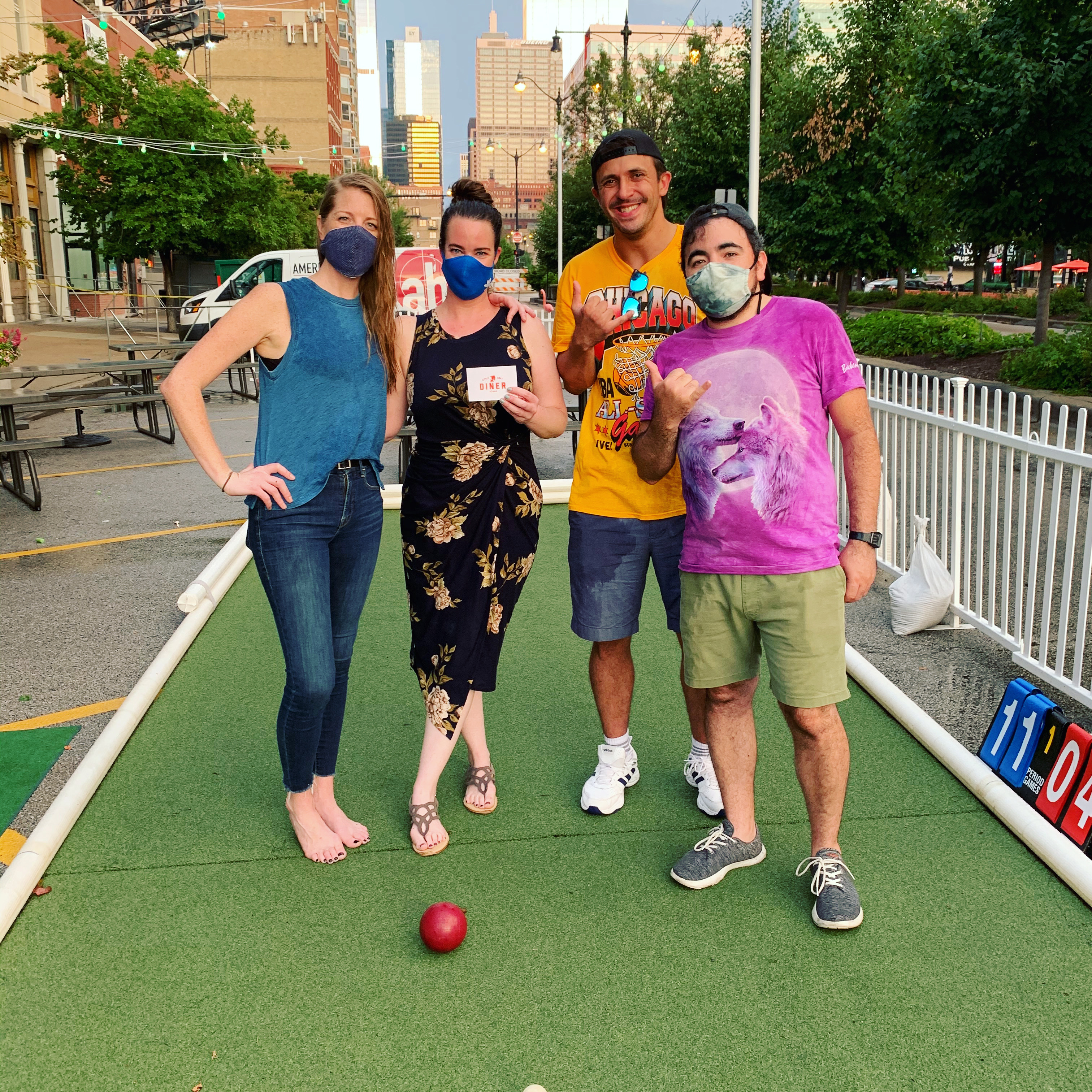 bocce team wins gift card