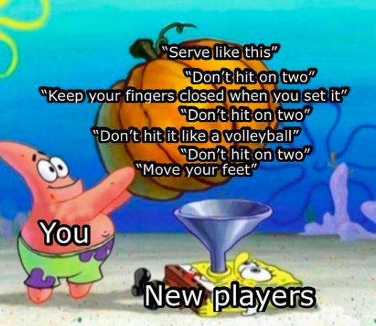 spongebob meme about spikeball