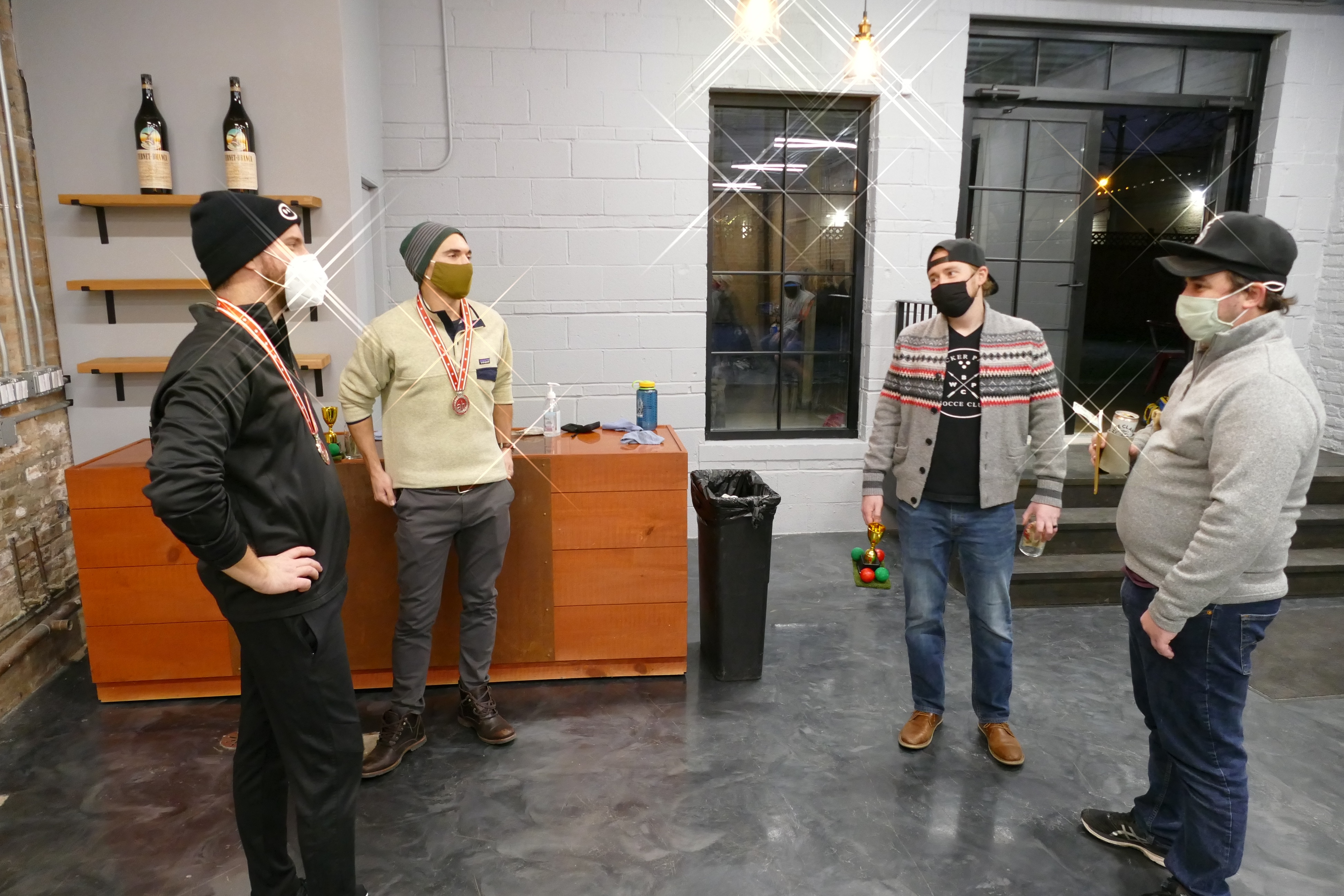 bocce ball champions medals fernet branca event space
