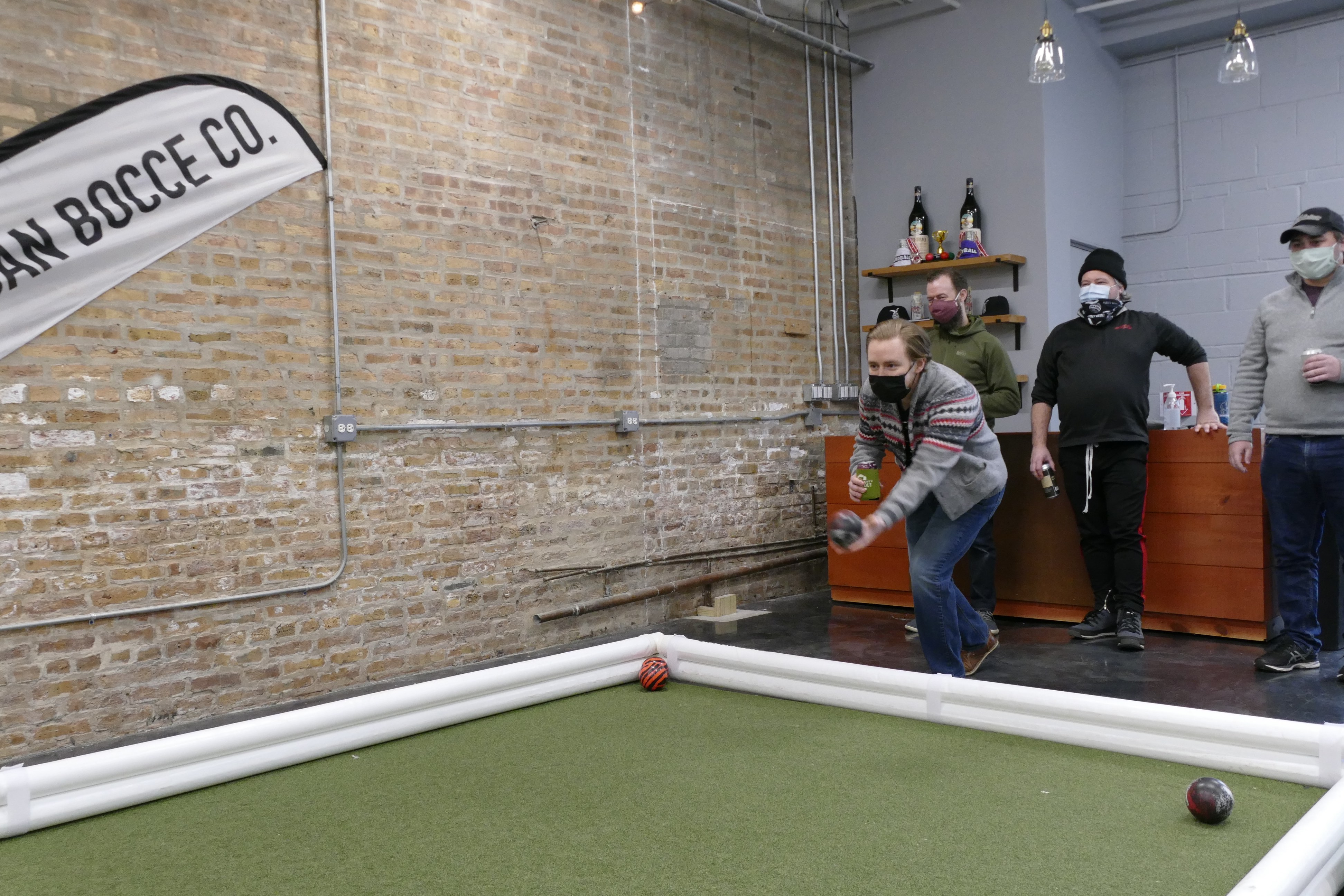 bocce ball player super martel bocce ball event space packaworld bocce court