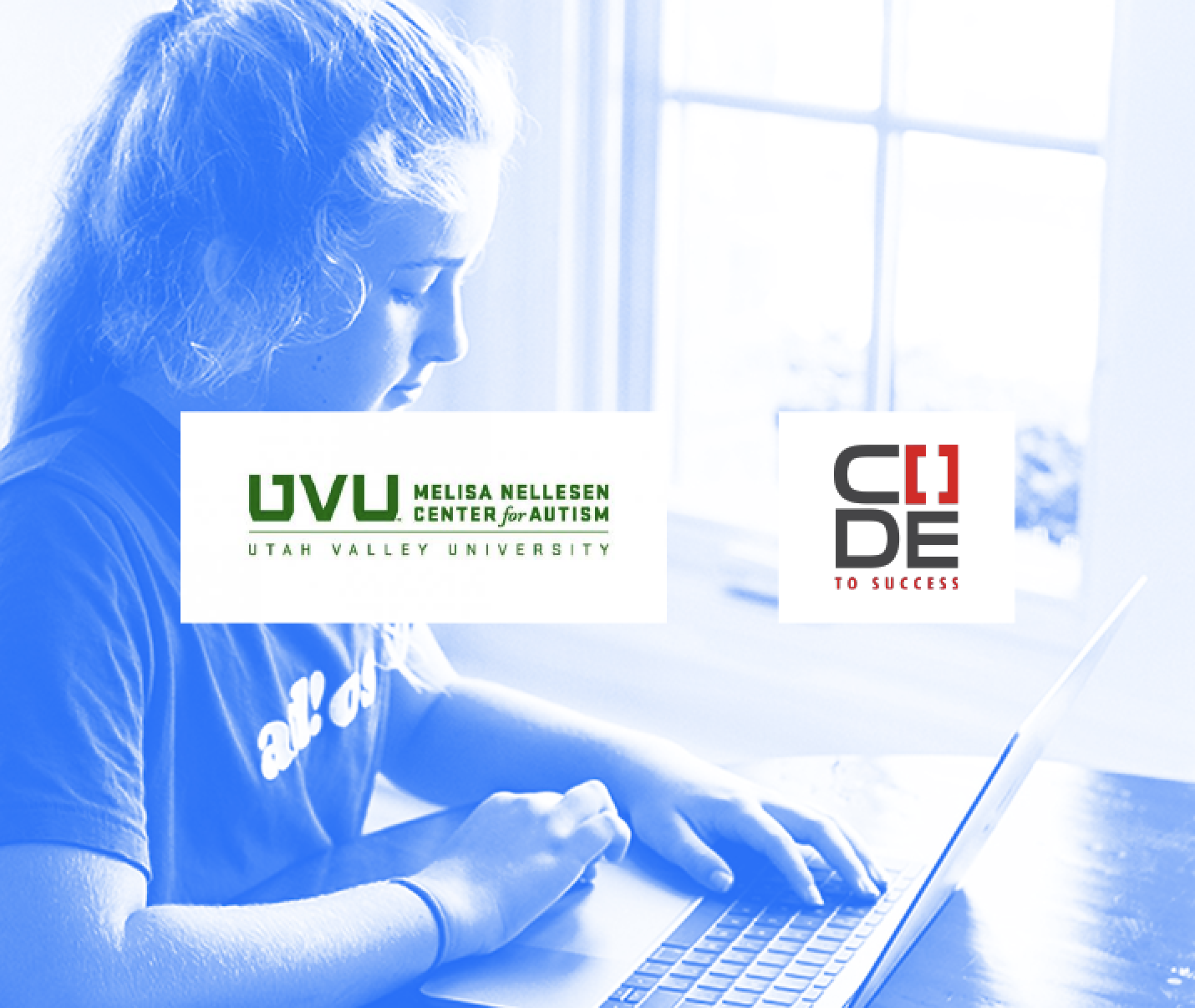 Girl on computer with CYBER.ORG logo