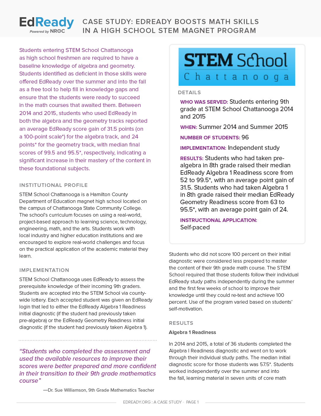 High School STEM Magnet Program
