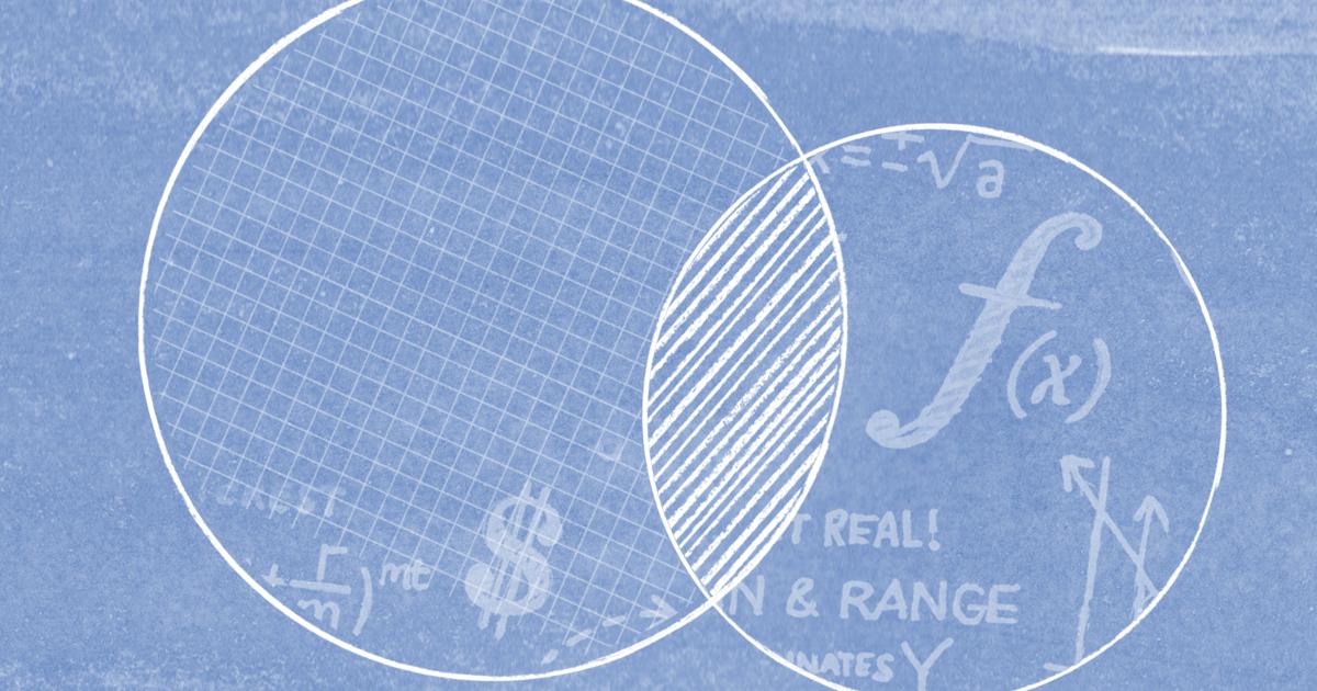 Blue abstract mathematics design