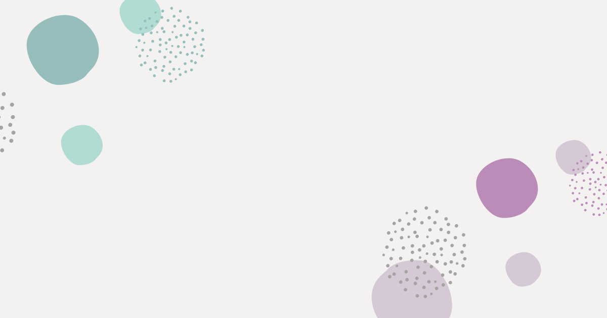 Teal and purple and dotted circle pattern