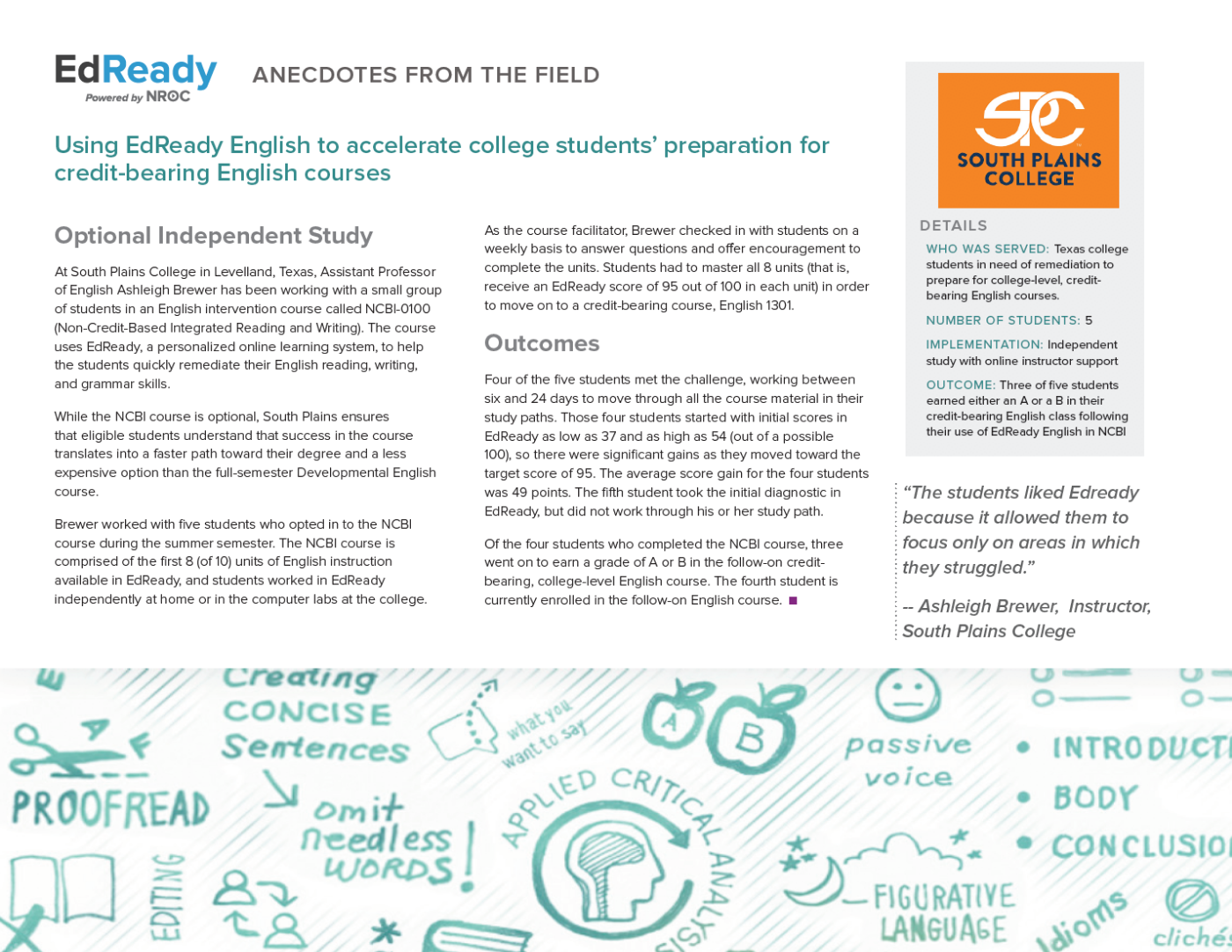 Using EdReady English to Accelerate College Students' Preparation for Credit-Bearing English Courses