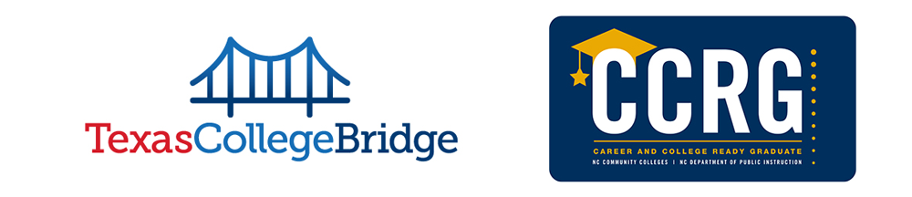 logos for Texas College Bridge and Career and College Ready Graduate (CCRG)