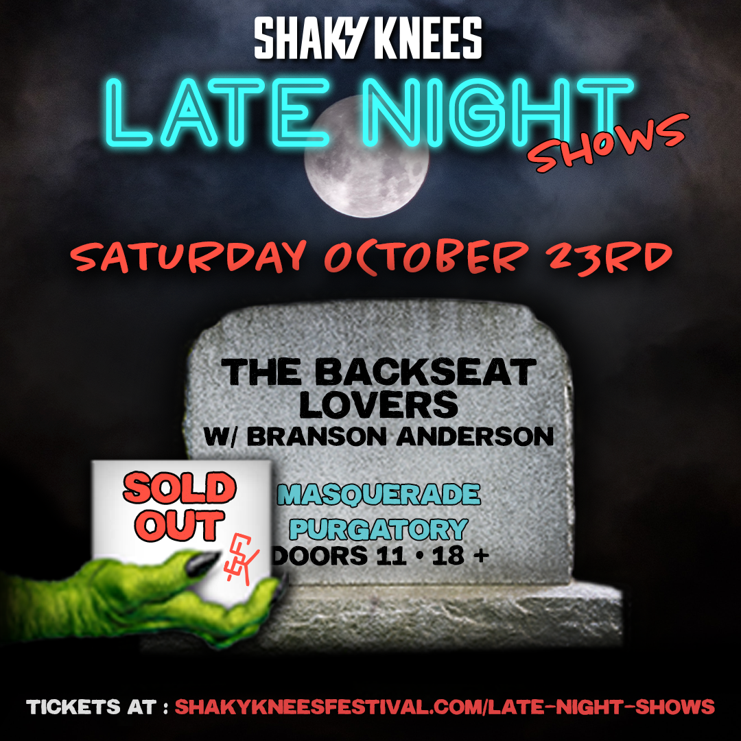 SOLD OUT - The Backseat Lovers w/ Branson Anderson