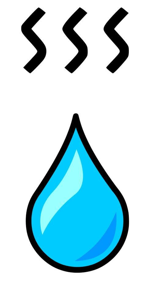 Ein Wassertropfen, der die Warmwassergewinnung der Solarthermie symbolisiert