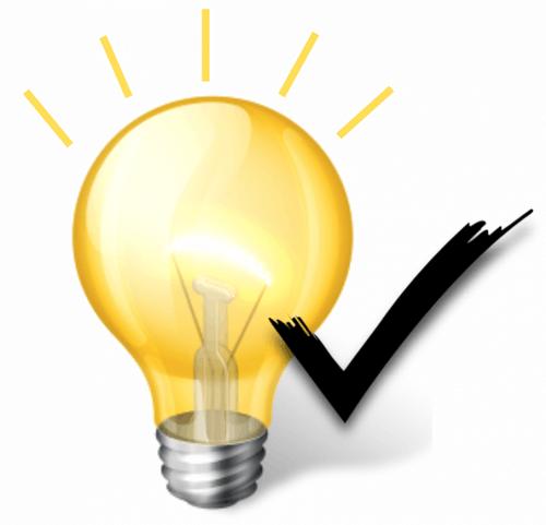 Eine gelbe Glühbirne mit schwarzem Haken, die zusammen das Fazit symbolisieren