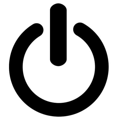 Standby Icon als Symbol für das Ausschalten von Geräten, um Strom zu sparen