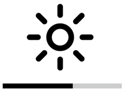 Sonne und Balken als Helligkeitssymbole