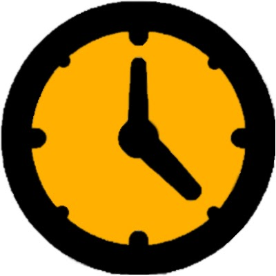 Eine gelbe Uhr, die den Aspekt der Zeit bei der Anschaffung einer Solaranlage darstellt