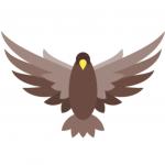 Ein brauner Adler, der Freiheit symbolisiert