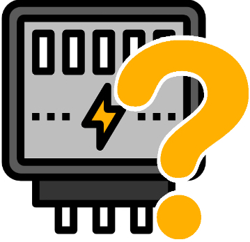 Ein Stromzähler mit Fragezeichen