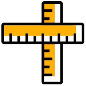 Zwei Zollstocke als Symbol für die Dimensionen der Stromzähler