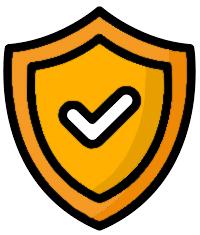 Ein Schild mit Haken, das Zuverlässigkeit von Stromzählern symbolisiert