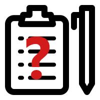 Eine Checkliste mit Stift und rotem Fragezeichen