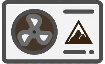 Ein Icon einer Erdwärmepumpe