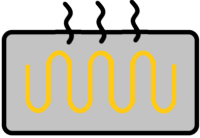 Icon einer Elektro-Fußbodenheizung