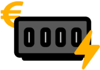 Elektroheizung mit Eurosymbol