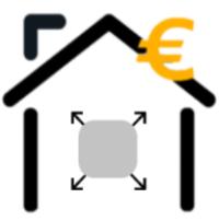 Eine Abbildung eines Hauses mit Euro Symbol