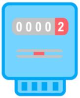 Ein blauer Smart Meter