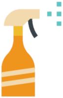 Eine Sprühflasche, die die Reinigung symbolisiert