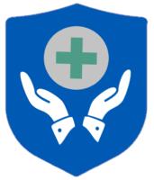 Ein Schild mit helfenden Händen als Symbol der Versicherung