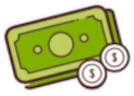 Gründe Geldscheine mit Münzen