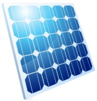 Eine blaues Solarmodul