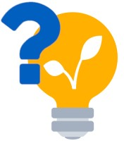 Eine gelbe Glübirne mit Fragezeichen