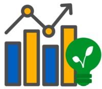 Ein Markt Icon mit Ökostrom Symbol