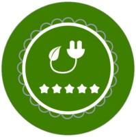 Ein grünes Ökostrom Siegel