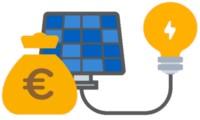 Ein Solarpanel, das Strom einspeist