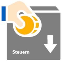 Ein Icon, das eine Steuersenkung symbolisiert
