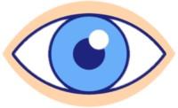 Ein Auge, das den Aspekt der Optik darstellt