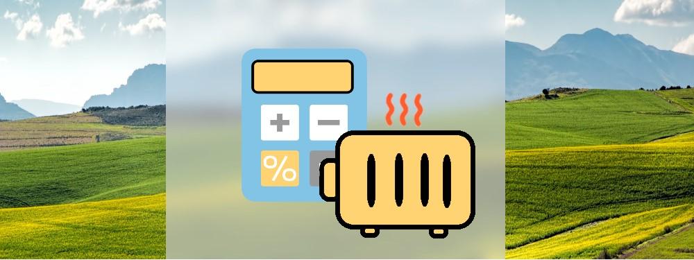 Eine Heizung und ein Taschenrechner