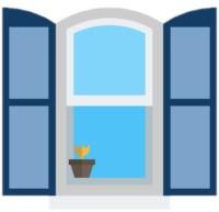 Ein offenes Fenster als Symbol für Stoßlüften