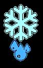 Schmelzende Schneeflocke