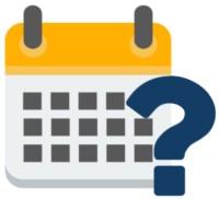 Ein Kalendar mit Fragezeichen