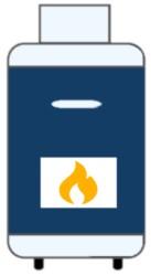 Ein Icon, das eine Gasheizung darstellt