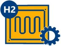 Brennstoffzellenheizung Icon mit Zahnrad