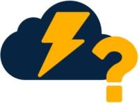 Stromcloud Icon mit Fragezeichen