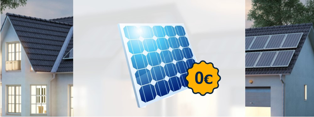 Kostenlose Solaranlage vor einem Haus